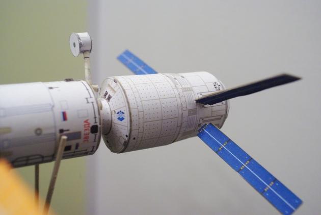 ATV zadokowany do tylnego portu Zwiezdy.